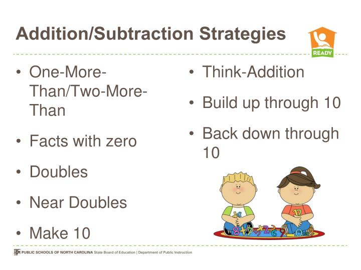 Addition/Subtraction Strategies