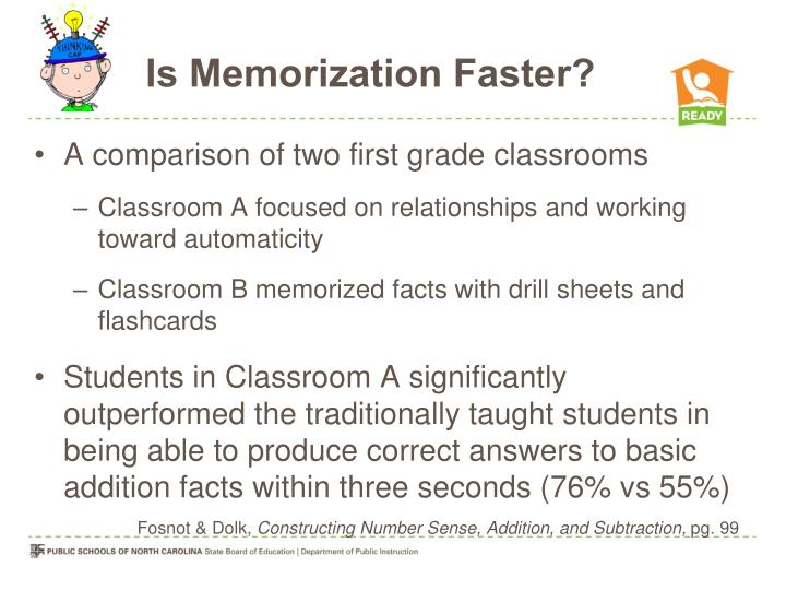 Is Memorization Faster?
