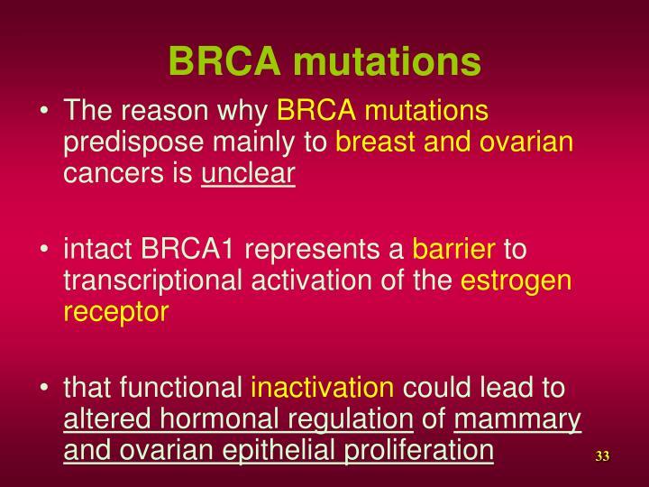 BRCA mutations