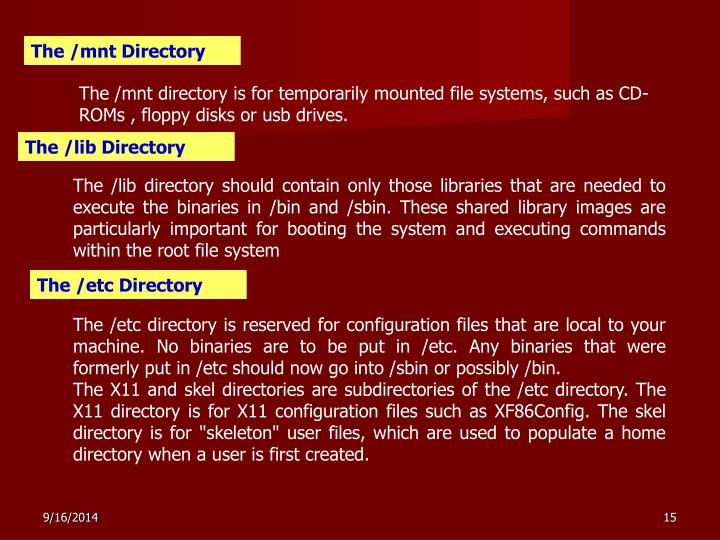 The /mnt Directory