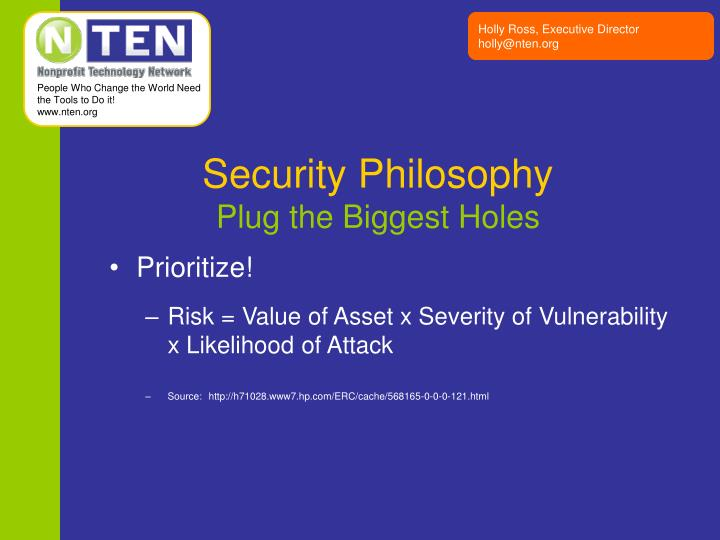 Security Philosophy