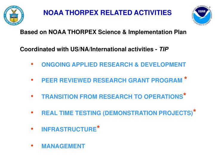 NOAA THORPEX RELATED ACTIVITIES