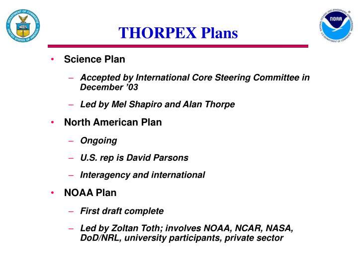 THORPEX Plans