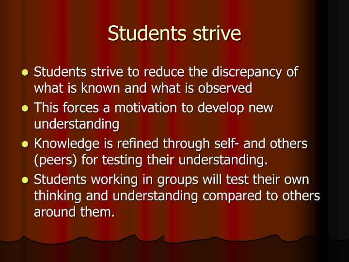 Students strive