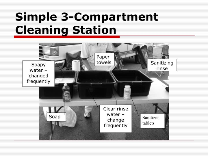 Simple 3-Compartment Cleaning Station