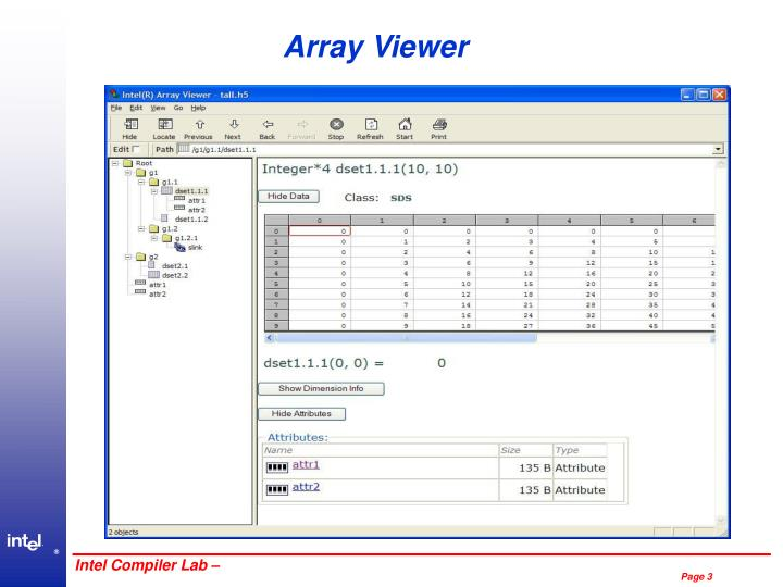 Array viewer