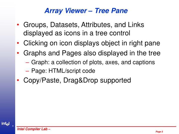 Array Viewer – Tree Pane