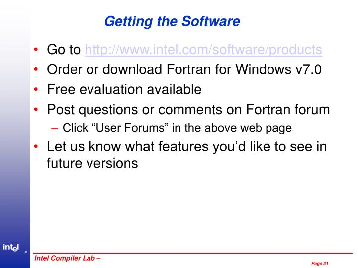 Getting the Software