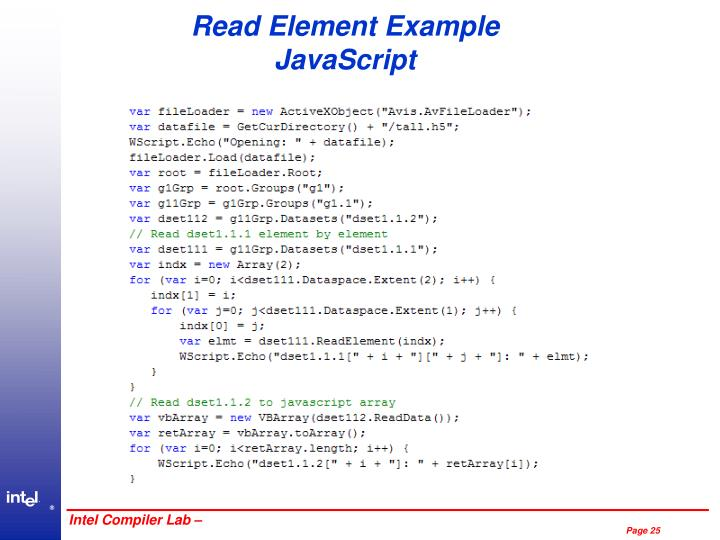 Read Element Example