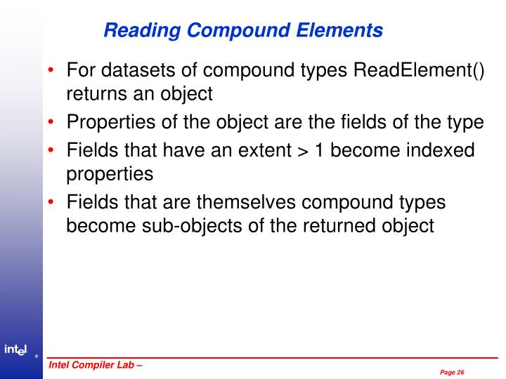 Reading Compound Elements