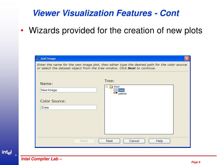 Viewer Visualization Features - Cont