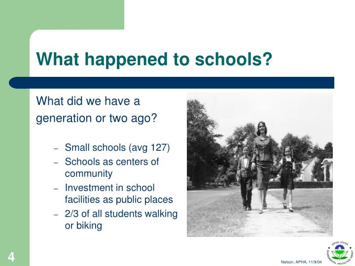 What happened to schools?
