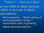 theme 1 decline of west