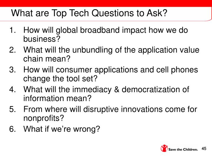 What are Top Tech Questions to Ask?