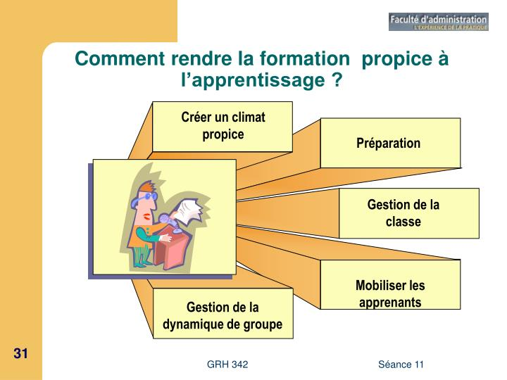 Comment rendre la formation  propice à l'apprentissage ?