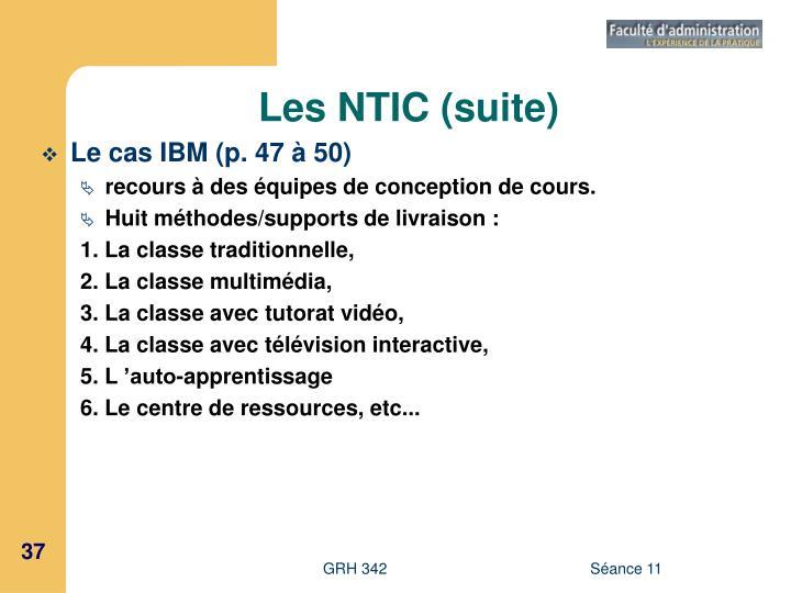 Les NTIC (suite)
