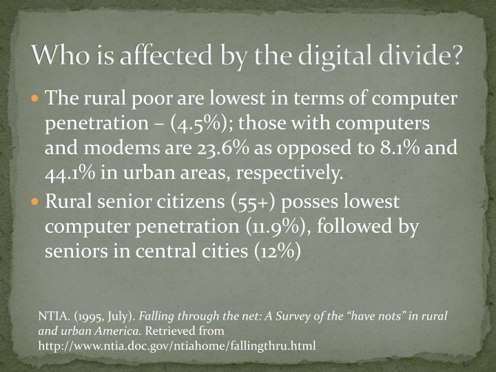 Who is affected by the digital divide?