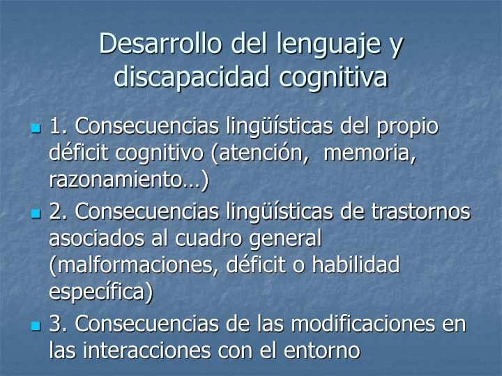 Desarrollo del lenguaje y discapacidad cognitiva