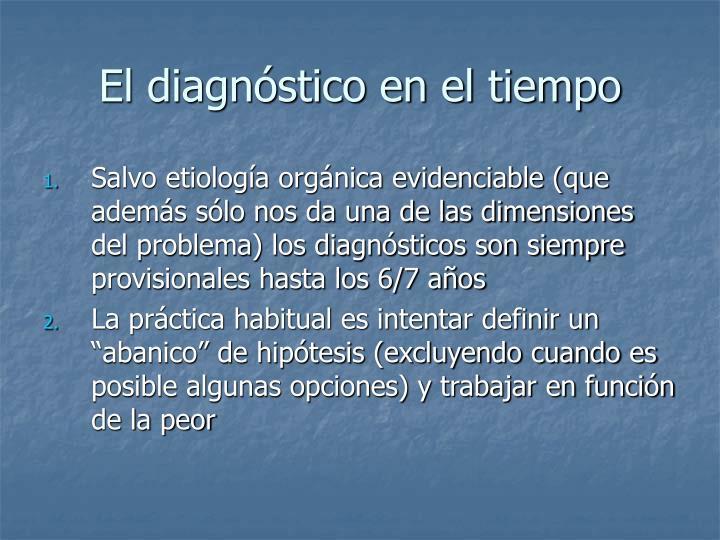 El diagnóstico en el tiempo