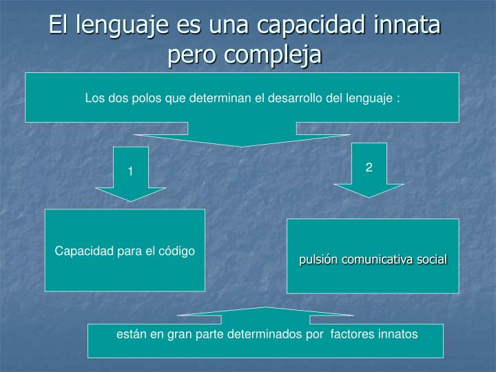El lenguaje es una capacidad innata pero compleja