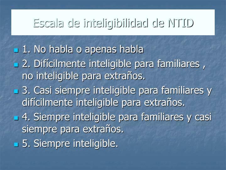 Escala de inteligibilidad de NTID