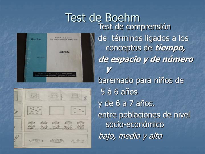 Test de Boehm
