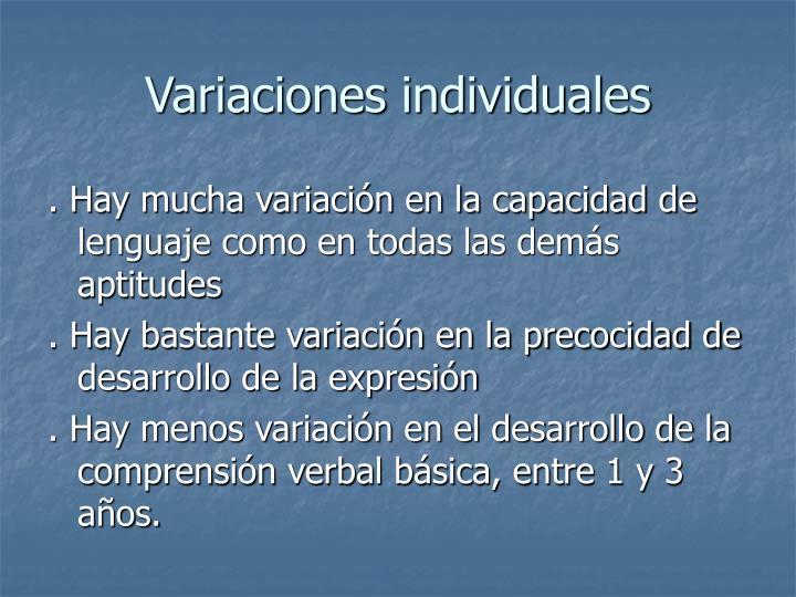 Variaciones individuales