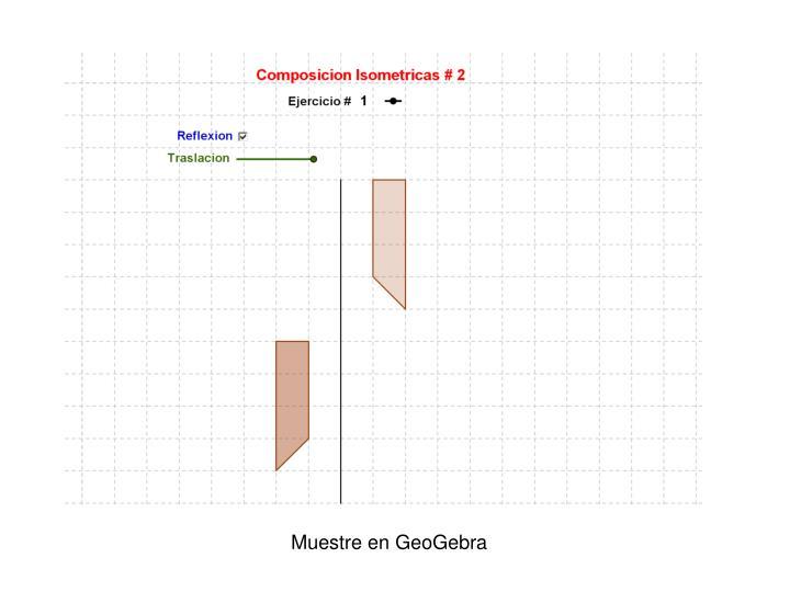 Muestre en GeoGebra