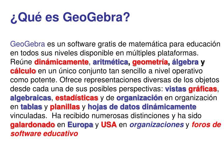 ¿Qué es GeoGebra?
