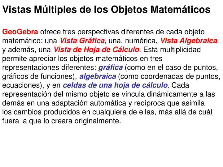 Vistas Múltiples de los Objetos Matemáticos