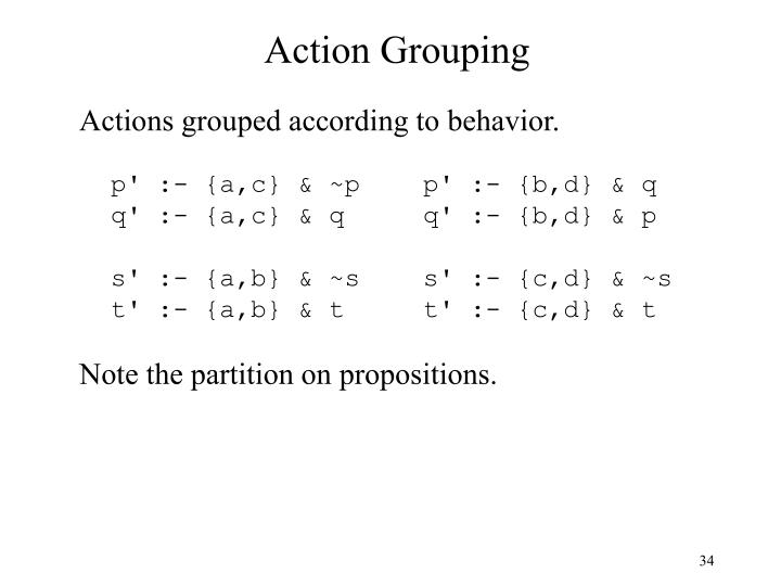 Action Grouping