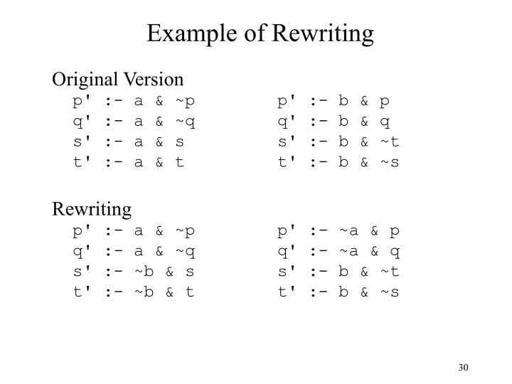 Example of Rewriting
