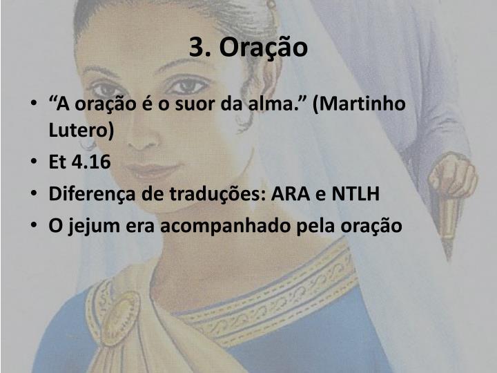 3. Oração