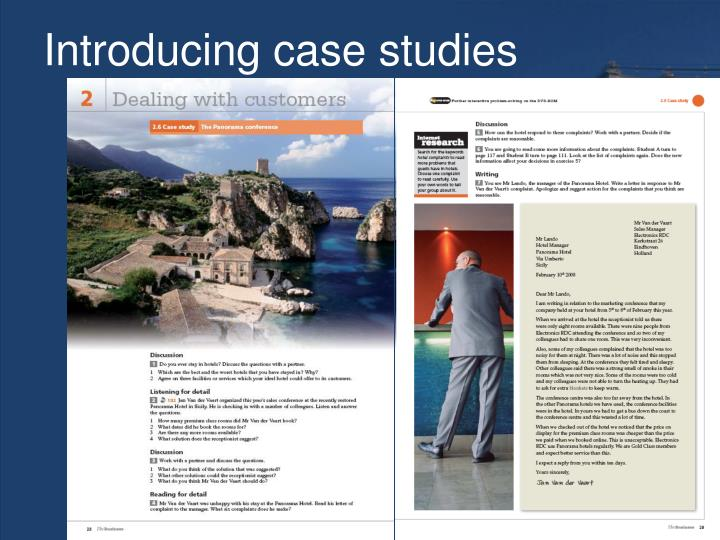 Introducing case studies