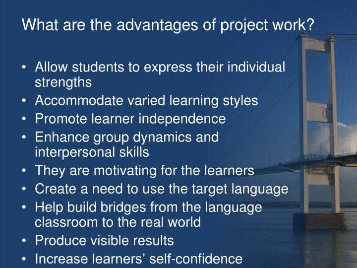 What are the advantages of project work?