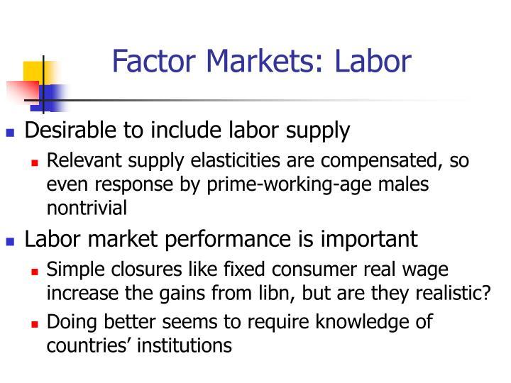 Factor Markets: Labor