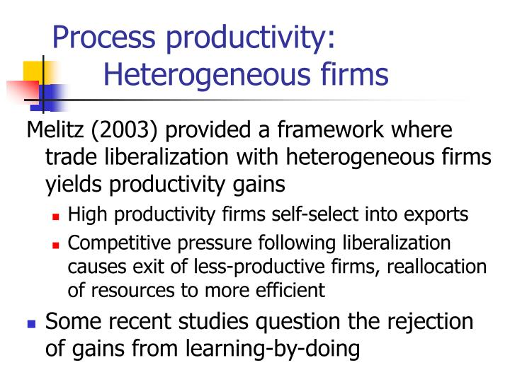 Process productivity: