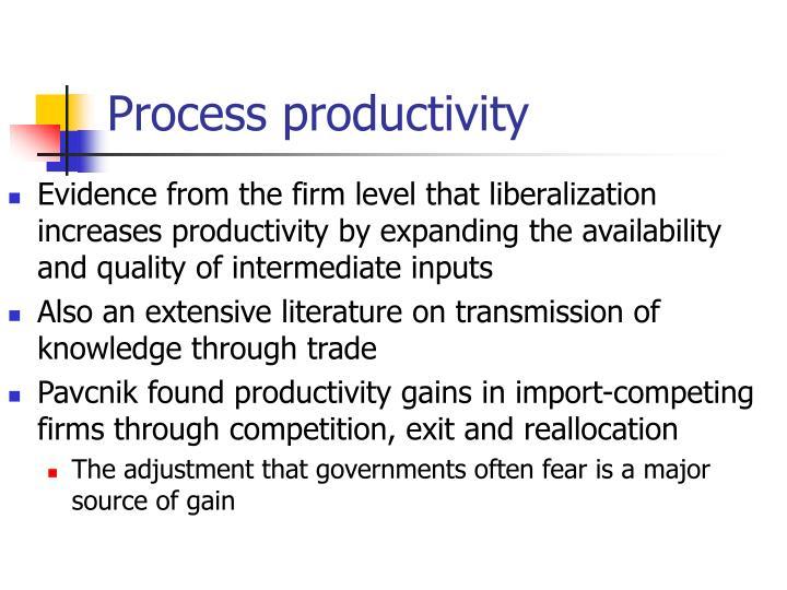 Process productivity