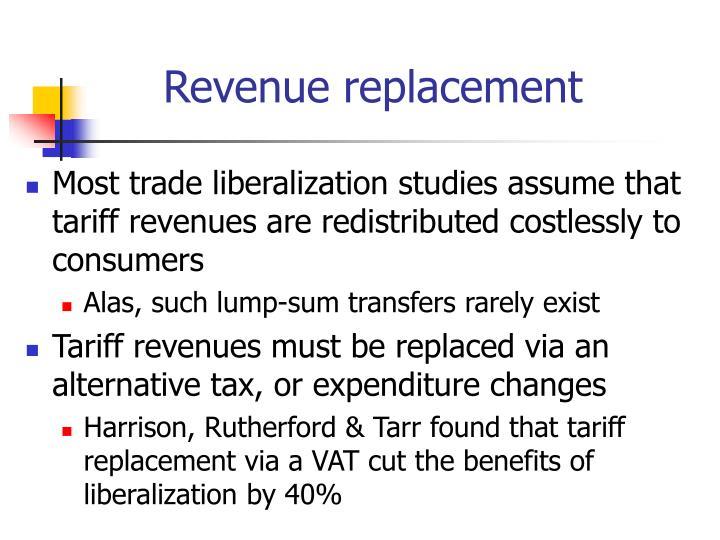 Revenue replacement