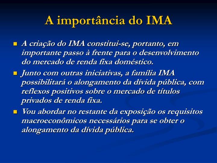 A importância do IMA