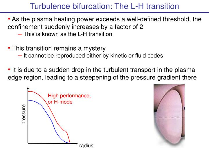 Turbulence bifurcation: The L-H transition