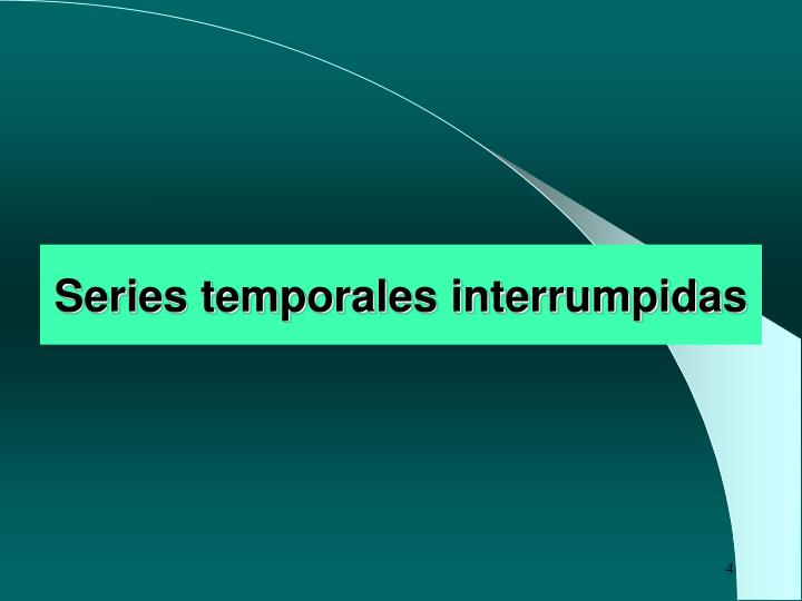 Series temporales interrumpidas