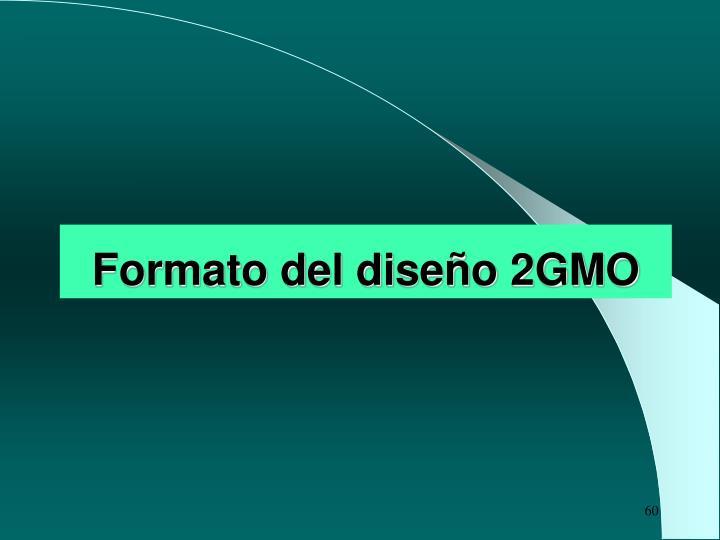 Formato del diseño 2GMO