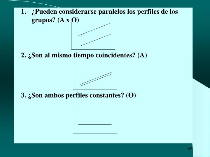 ¿Pueden considerarse paralelos los perfiles de los grupos? (A x O)