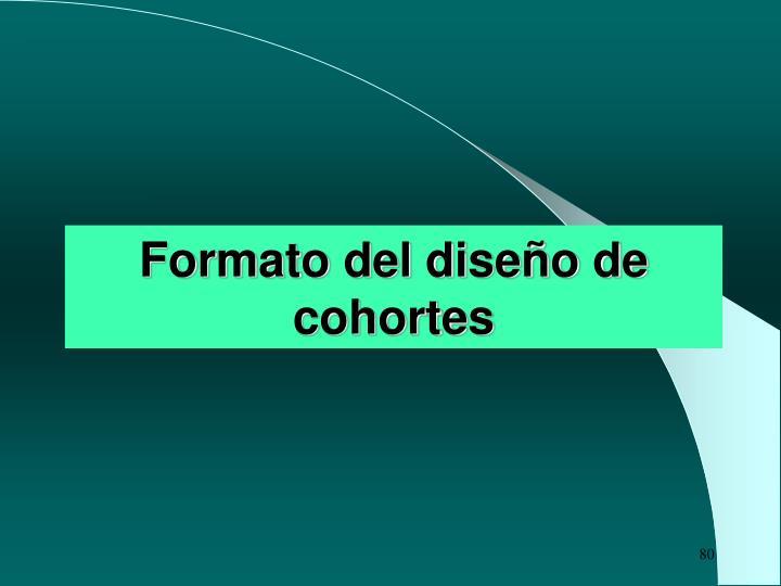 Formato del diseño de cohortes
