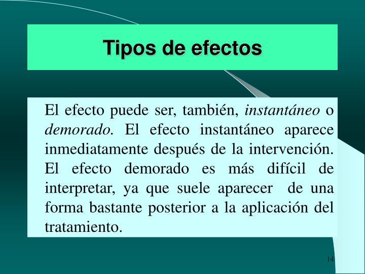 Tipos de efectos