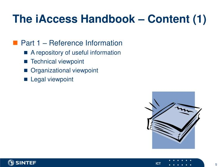 The iAccess Handbook – Content (1)