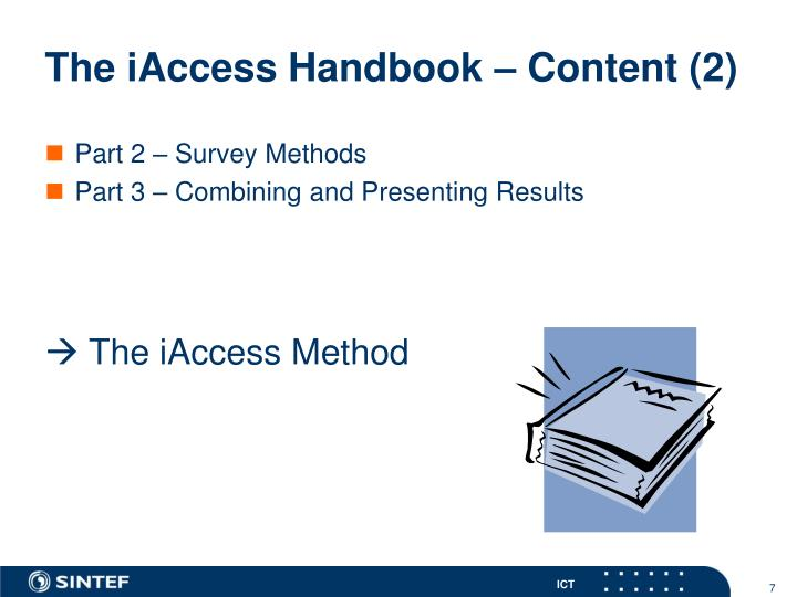 The iAccess Handbook – Content (2)