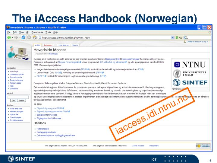 The iAccess Handbook (Norwegian)