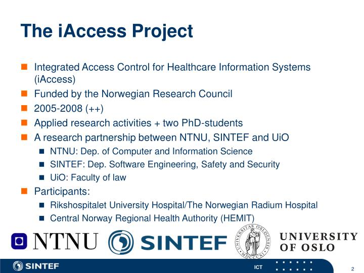 The iaccess project